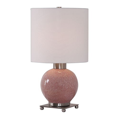 Rhoda Soft Pink One-Light Buffet Lamp