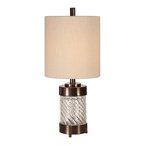 Uttermost Thorton Spiral Glass One-Light Buffet Lamp