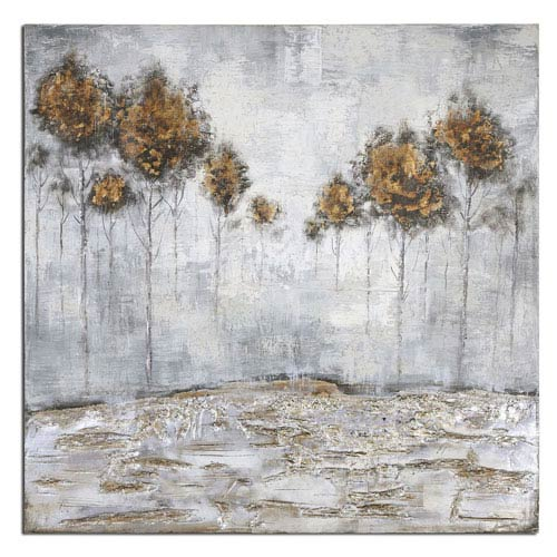 Uttermost Iced Trees Hand-Painted 48-Inch Abstract Decorative Art