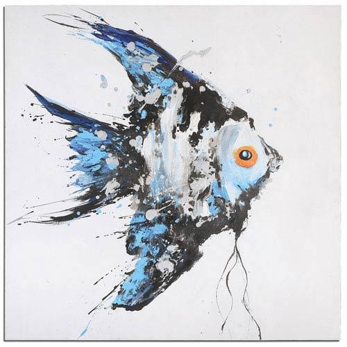 Uttermost Angel Blue Ocean Fish Art