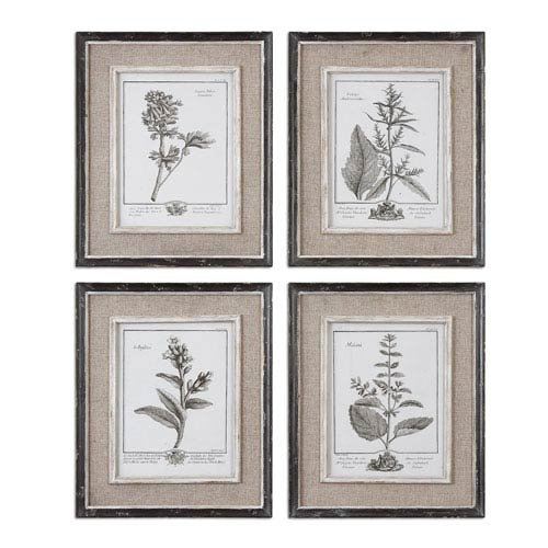 Uttermost Casual Grey Study: 14.5 x 17.5 Wall Art, Set of Four