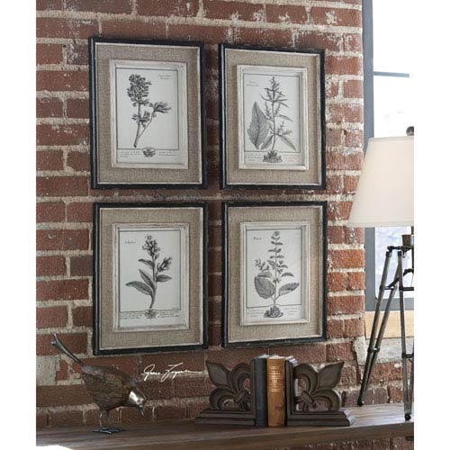 Casual Grey Study: 14.5 x 17.5 Wall Art, Set of Four
