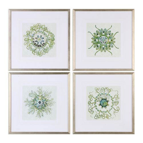 Organic Symbols Print Wall Art, Set of 4