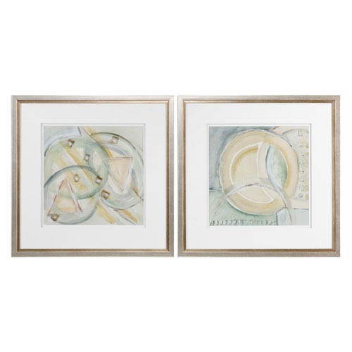 Uttermost Abstracts Framed Prints, Set of Two