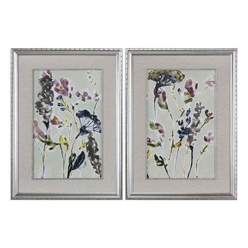 Uttermost Parchment Flower Field Prints, Set of Two
