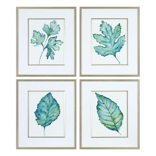 Spring Leaves Prints, Set of Four