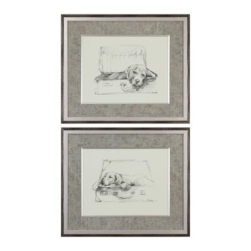 Stowaway Dog Prints, Set of Two