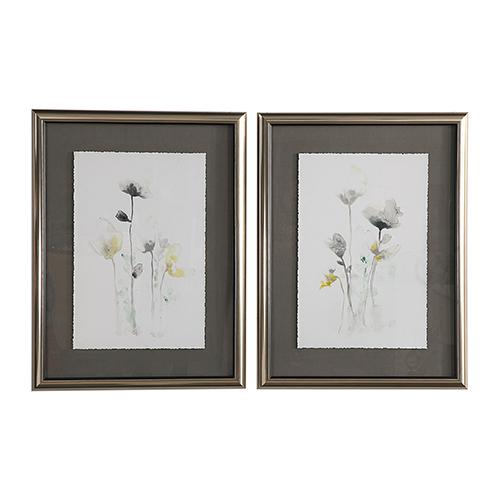 Stem Illusion Floral Art, Set of 2