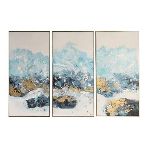 Crashing Waves Abstract Art, Set of 3