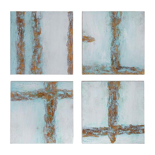Cross Roads Wall Art, Set of Four
