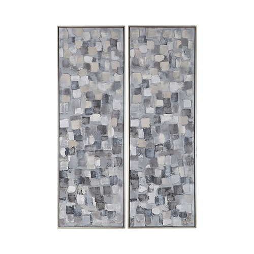 Cubist Wall Art, Set of Two