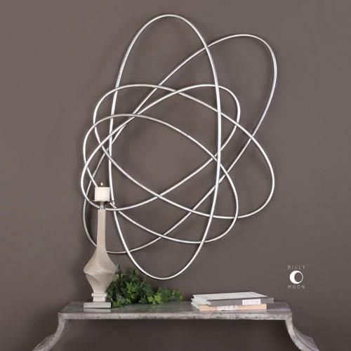 Orbital Silver Wall Art