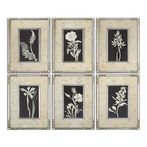 Uttermost Glowing Florals by Grace Feyock: 13.62 x 17.62 Framed Art, Set of 6