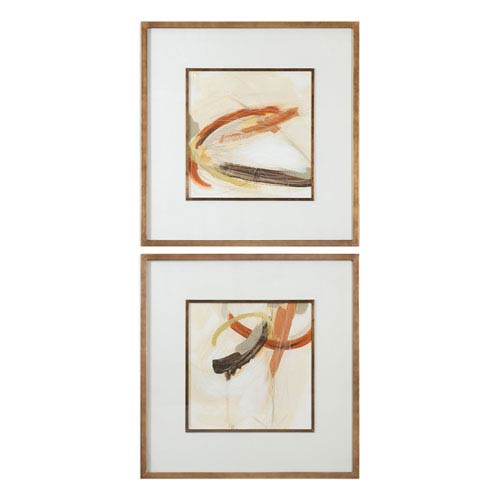 Uttermost Upstage Abstract Art, Set of Two