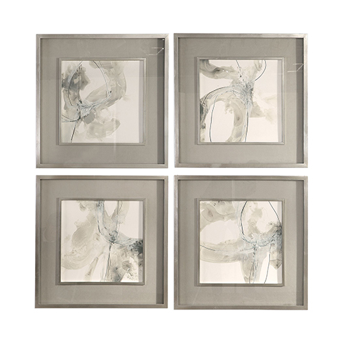 Divination Abstract Art, Set of 4