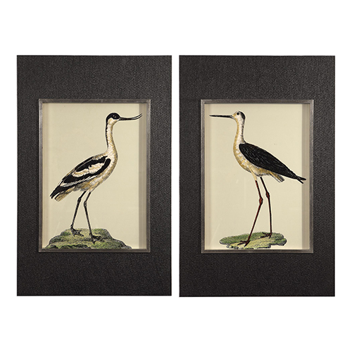 Birds On The Shore Bird Prints, Set of 2