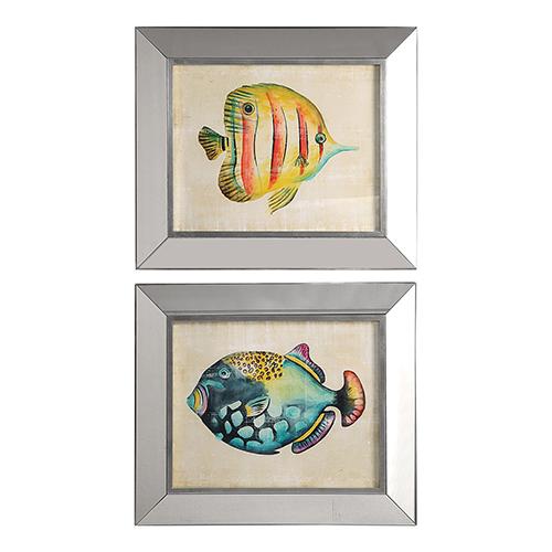 Aquarium Fish Prints, Set of 2