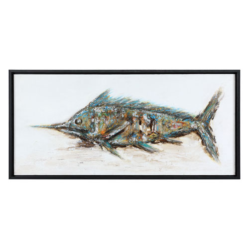 Blue Marlin Hand Painted Art