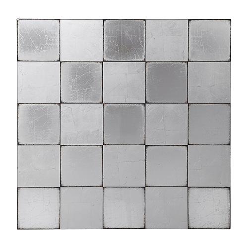 Uttermost Brigid Silver Mirrored Checkerboard Wall Decor