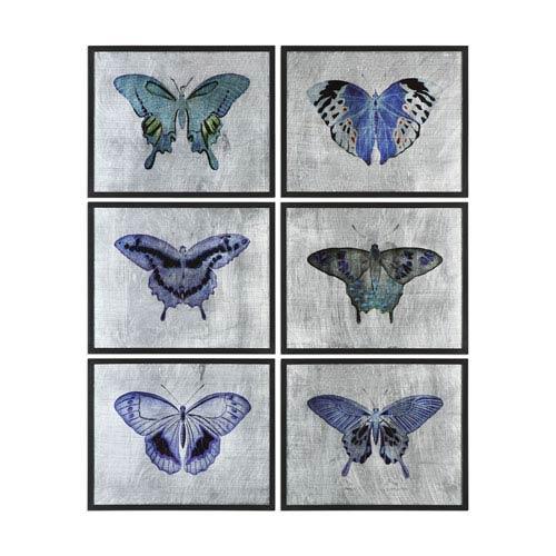 Vibrant Butterflies Prints, Set of 6