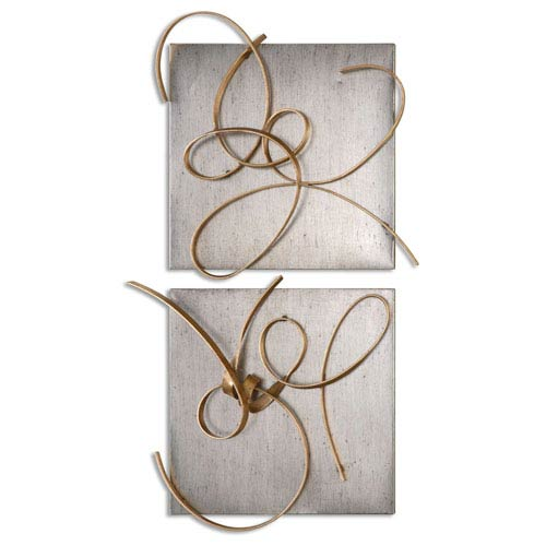 Uttermost Harmony by Grace Feyock: 24 x 22-Inch Metal Wall Art, Set of Two