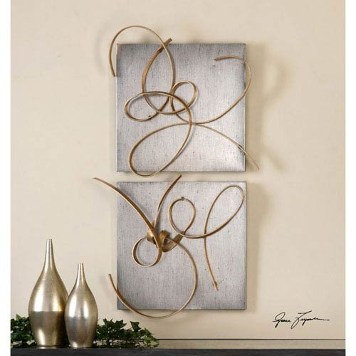Harmony by Grace Feyock: 24 x 22-Inch Metal Wall Art, Set of Two