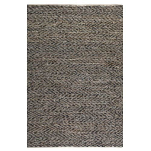 Uttermost Tobais Brown Leather And Hemp Rectangular:  5 X 8 Ft. Rug