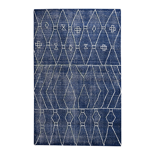 Fressia Indigo Blue Rectangular: 5 Ft. x 8 Ft. Rug