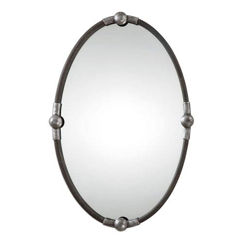 Uttermost Carrick Rust Black Mirror