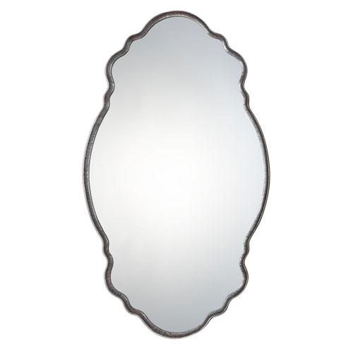 Samia Metallic Silver Mirror