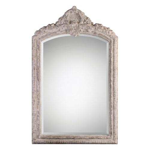 Charente Aged Ivory Arch Mirror