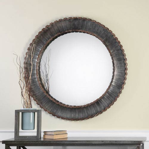 Tanaina Silver Round Mirror