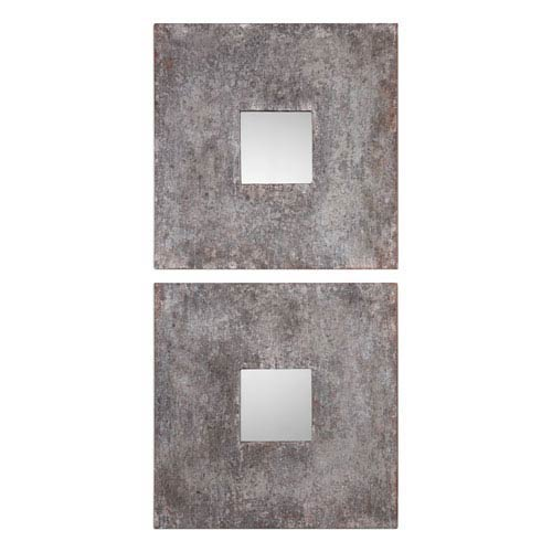 Uttermost Altha Burnished Square Mirrors, Set of Two