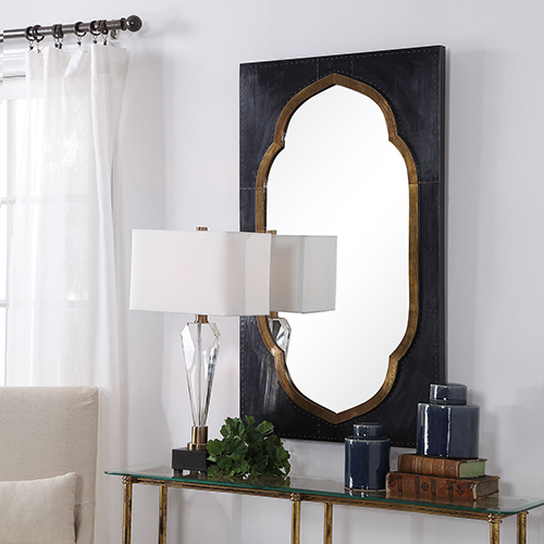 Shanti Moroccan Bronze Mirror