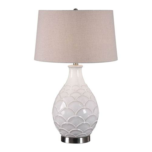 Murray Glossed White Table Lamp