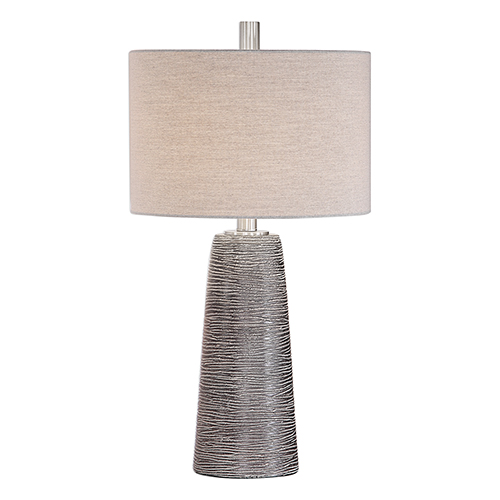 Afton Dark Bronze and Light Gray One-Light Table Lamp