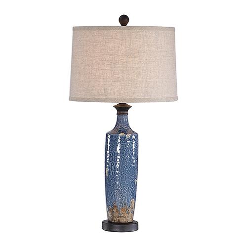 Evelyn Blue One-Light Table Lamp