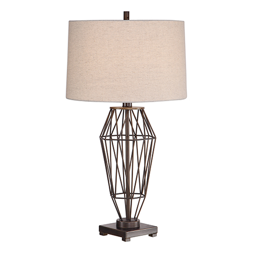 Afton Dark Bronze One-Light Table Lamp
