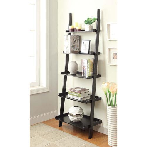 Convenience Concepts American Heritage Black Bookshelf Ladder