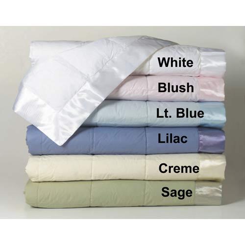 White Duck Down Twin Blanket