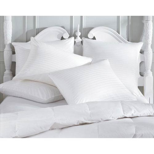 Downright White Damask Standard Pillow Protector