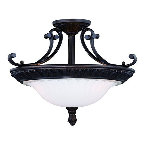 Avenant Venetian Bronze Three-Light Semi-Flush Mount