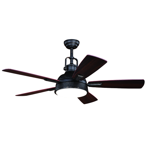 Walton Gold Stone 52-Inch Ceiling Fan With LED Light Kit