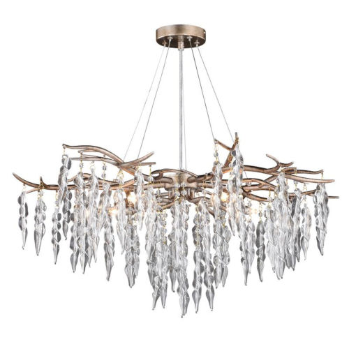 Rainier Silver Mist Five-Light Adjustable Chandelier
