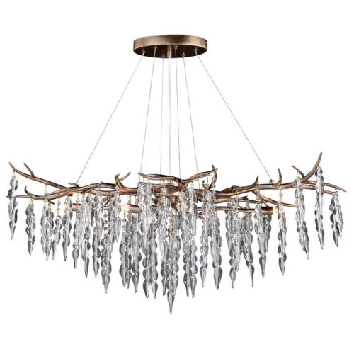 Rainier Silver Mist Six-Light Adjustable Chandelier