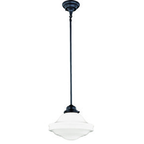 Vaxcel Huntley Oil Rubbed Bronze 12-Inch 1-Light Pendant