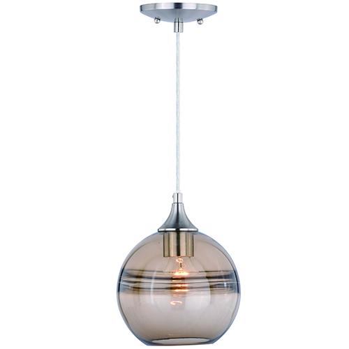 Milano Satin Nickel Eight-Inch One-Light Mini Pendant