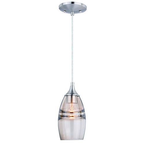Milano Satin Nickel Five-Inch One-Light Mini Pendant