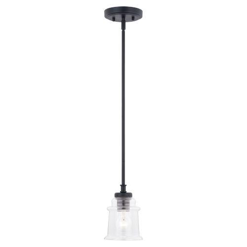 Toledo Matte Black One-Light Mini Pendant
