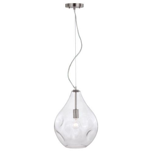 Ainslie Satin Nickel Eight-Inch One-Light Mini Pendant